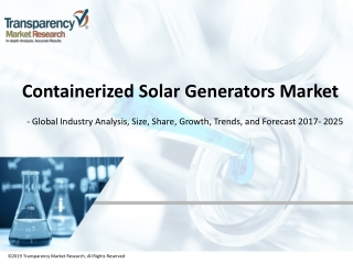 Containerized Solar Generators Market | Global Industry Report, 2027