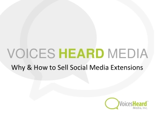 Why & How to Sell Social Media Extensions