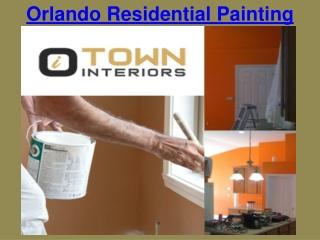 Orlando Residential Painting