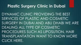Plastic Surgery Clinic in Dubai