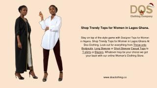 Shop Trendy Tops for Women in Lagos Ghana.