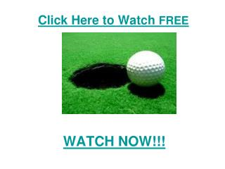 watch European Tour: Sicilian Open Golf 2011 live Streaming