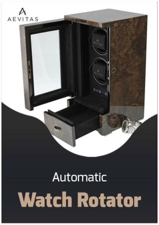 Automatic watch rotator | Aevitas