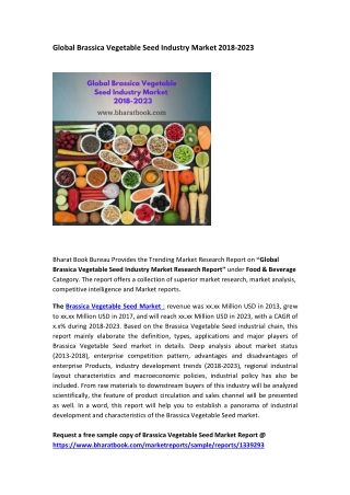Global Brassica Vegetable Seed Market  2018-2023