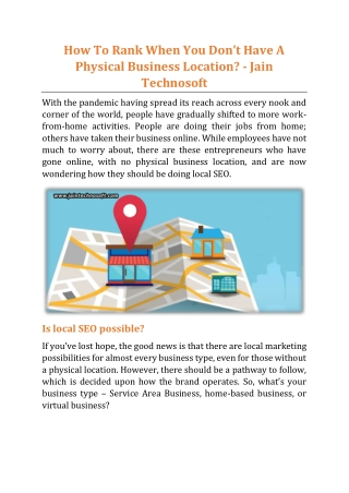 How To Rank When You Don't Have A Physical Business Location - Jain Technosoft