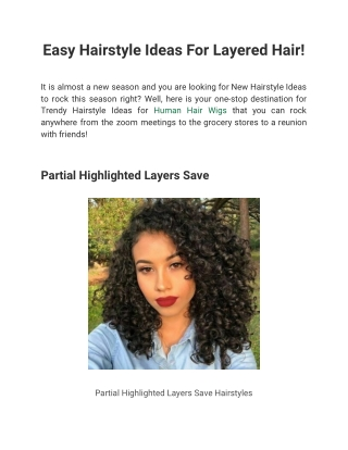 Easy Hairstyle Ideas For Layered Hair!