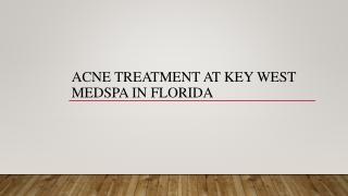 Acne Treatment at Key West Medspa in Florida