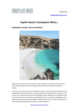 Sophie Sweet's Someplace When...