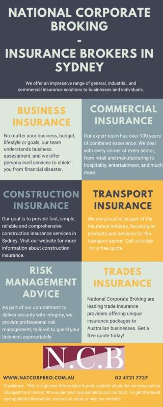 National Corporate Broking - Insurance Brokers in Sydney