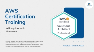 No.1 AWS Training in Bangalore | AWS Certification Training with Placement