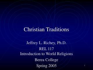 Christian Traditions