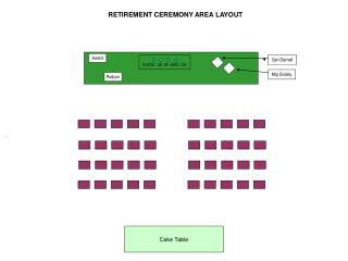RETIREMENT CEREMONY AREA LAYOUT