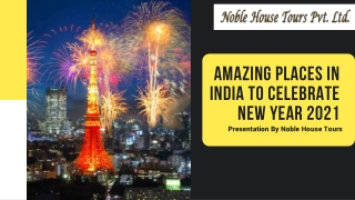 Amazing Places In India To Celebrate New Year 2021