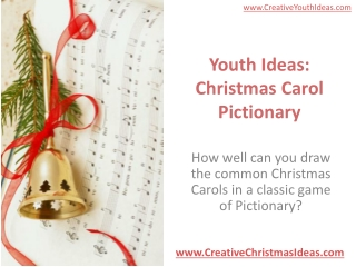 Youth Ideas: Christmas Carol Pictionary