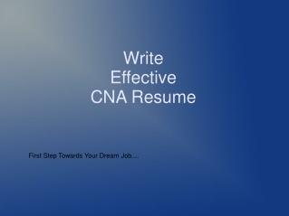 Resume for certified nursing assistant job