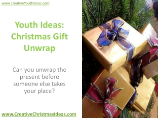 Youth Ideas: Christmas Gift Unwrap