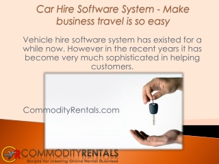 Car Hire Software System - Make business travel is so easy
