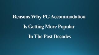 PG Accommodation In Noida