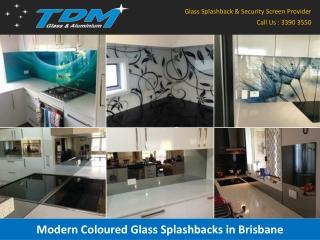 Modern Coloured Glass Splashbacks in Brisbane