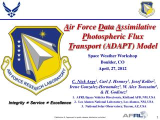Air Force Data Assimilative Photospheric Flux Transport ADAPT Model