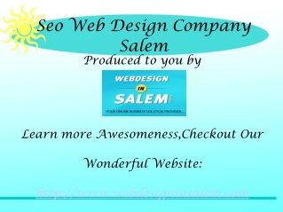 Web Design company Salem