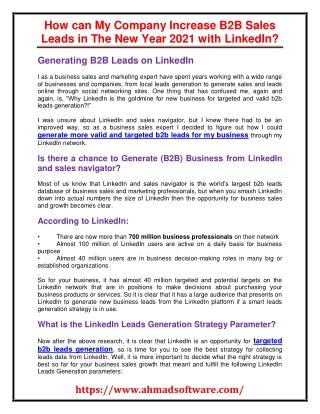 LinkedIn scraper