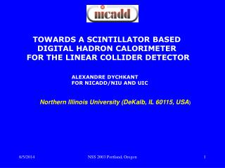 TOWARDS A SCINTILLATOR BASED  DIGITAL HADRON CALORIMETER  FOR THE LINEAR COLLIDER DETECTOR