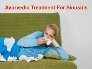 Ayurvedic Treatment For Sinusitis