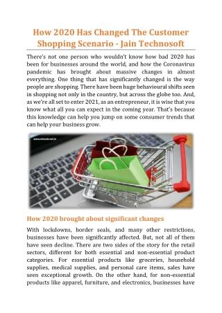 How 2020 Has Changed The Customer Shopping Scenario - Jain Technosoft