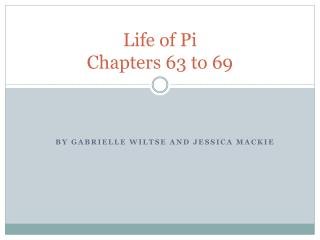Life of Pi Chapters 63 to 69