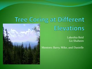 Tree Coring at Different Elevations