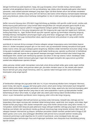Representasi Lumrah Gim Agen Sbobet Asia On-Line