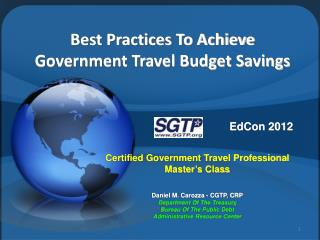 Best Practices To Achieve Government Travel Budget Savings