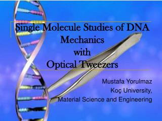 Single Molecule Studies of DNA Mechanics  with  Optical Tweezers