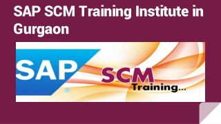SAP SCM Training Institute in Gurgaon