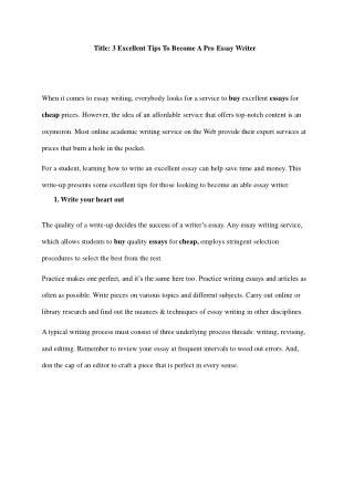buy essay cheap