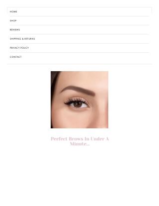 Waterproof eyebrows
