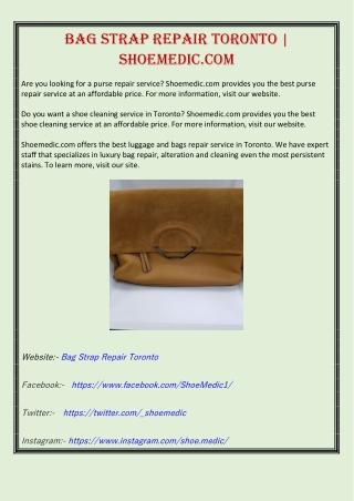 Bag Strap Repair Toronto   Shoemedic.com