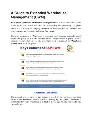 SAP EWM PPT for introduction | SAP EWM overview