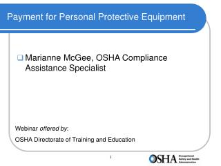 Payment for Personal Protective Equipment