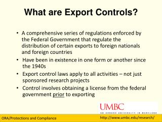 What are Export Controls?