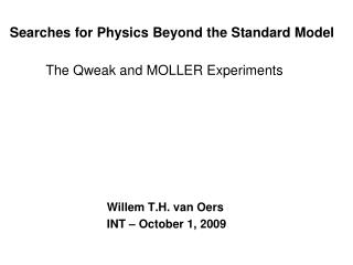 Searches for Physics Beyond the Standard Model