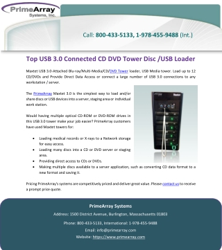 Top USB 3.0 Connected CD DVD Tower Disc /USB Loader