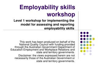 Employability skills workshop
