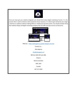 Toronto web designer | Atlasagency.ca