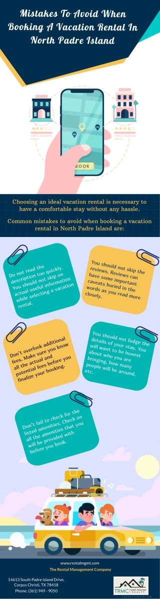 Mistakes To Avoid When Booking A Vacation Rental In North Padre Island