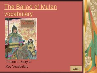 The Ballad of Mulan vocabulary