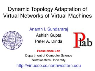 Dynamic Topology Adaptation of Virtual Networks of Virtual Machines