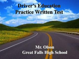 Driver's Education Practice Written Test