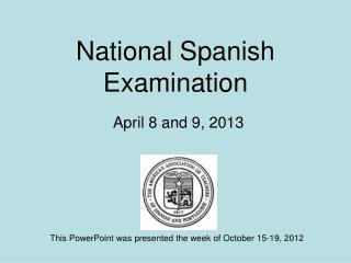 National Spanish Examination